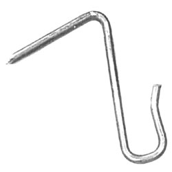 Stainless steel pin hook
